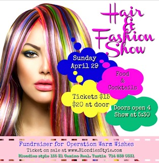 Hair and Fashion Show at Blondies Style in Tustin, April 29, 2018